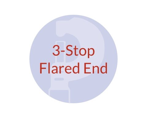 3-Stop PVC Flared End