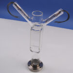 """Rectangular Pyrex Cell, 40 x 40 x 100 mm long, on 2-3/4"""" CF with 1 Na Source and 1 Rb Source"""